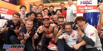 Marc Marquez and the Honda Team celebrate