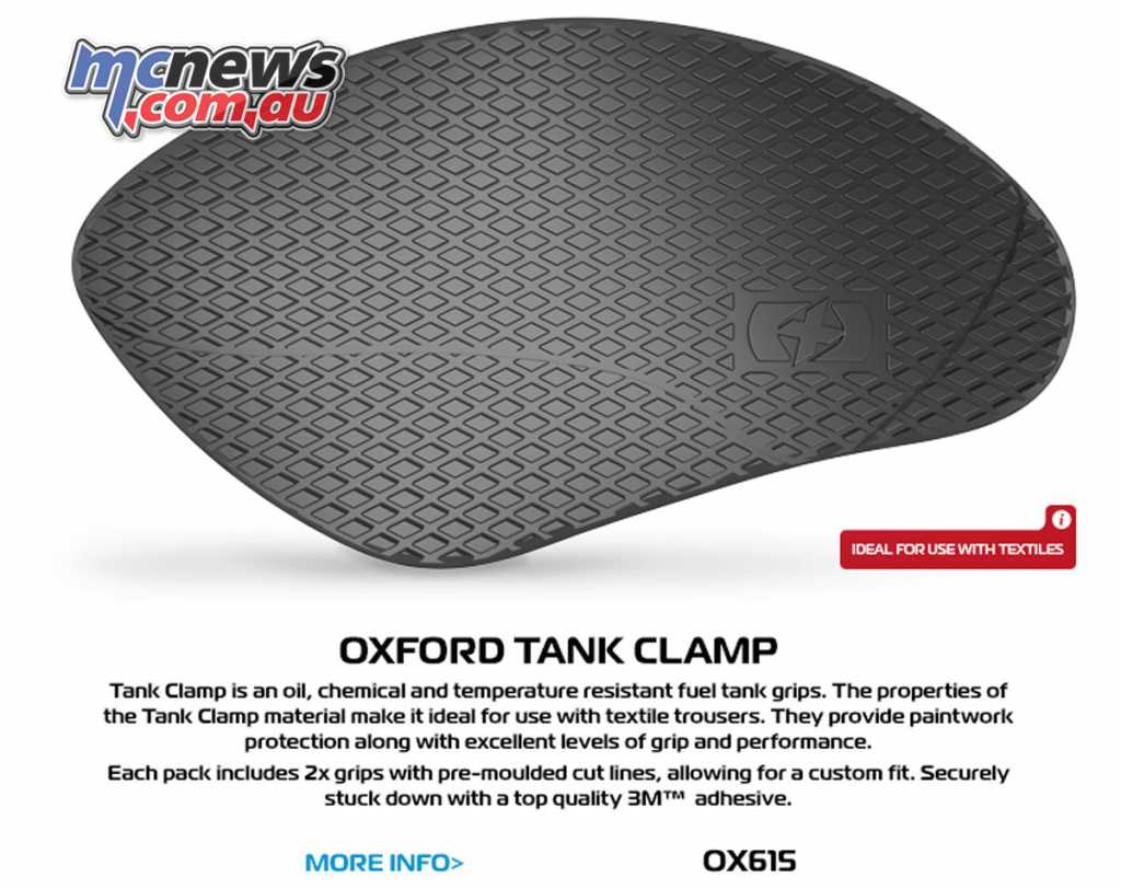 The Oxford Tank Clamps are designed for use with textile gear, with a less course grip area
