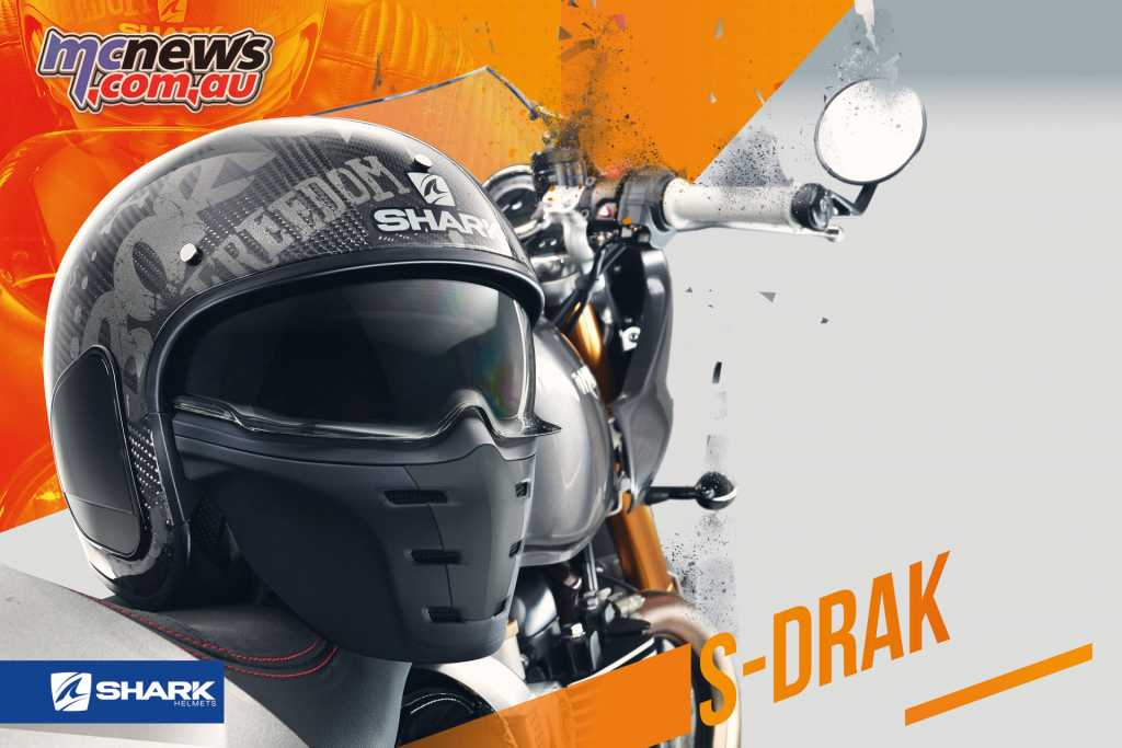 The Shark S-Drak Helmet comes in XS-XXL (54-64) with two shell sizes