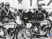 Stanley Woods at Saxtop with his Husqvarna