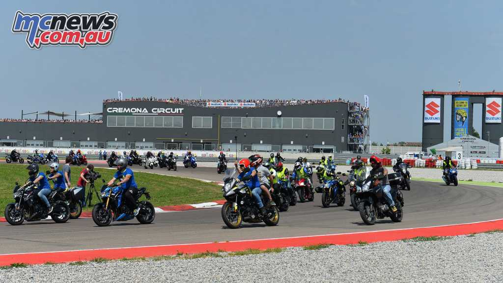 400 bikes went out on track, while test machines were also available for street use during the event
