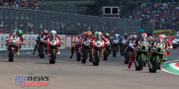 Race one gets underway at Imola