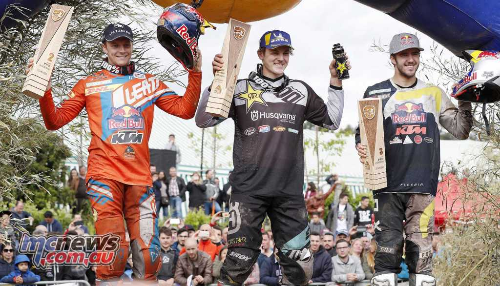 Results - World Enduro Super Series, Round 1, Extreme XL Lagares Billy Bolt (Husqvarna - GB) Jonny Walker (KTM - GB) Manuel Lettenbichler (KTM - Germany)