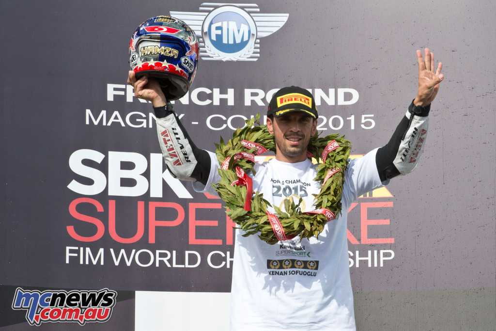 Kenan Sofuoglu claiming the 2015 WorldSSP title
