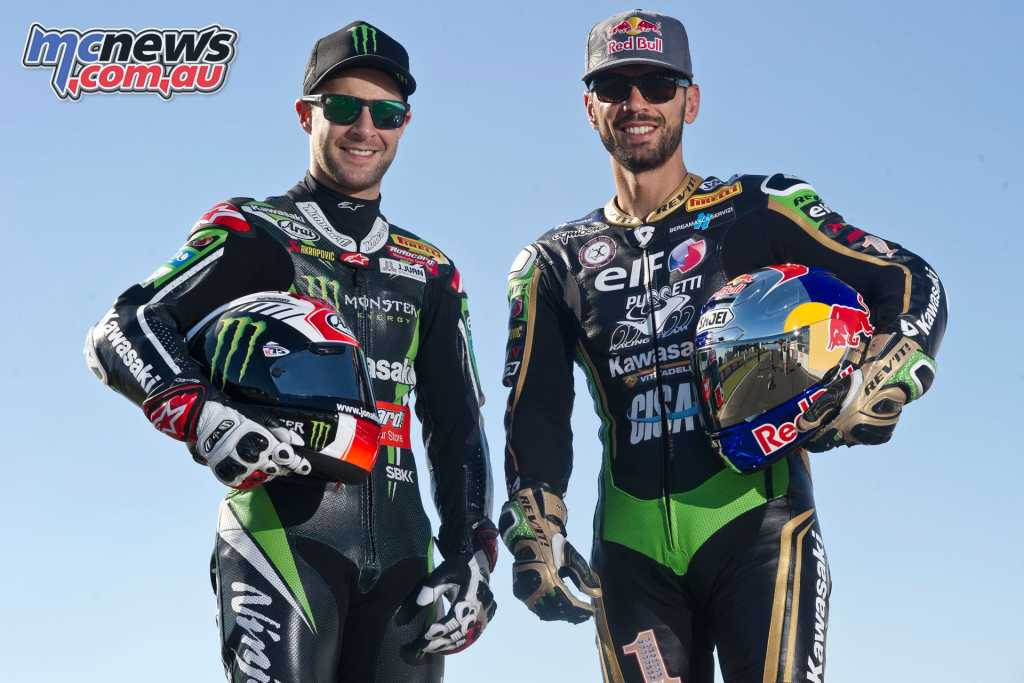 World Champions Kenan Sofuoglu and Jonathan Rea pictured in 2016 - Rea visited Sofuoglu's farewell event