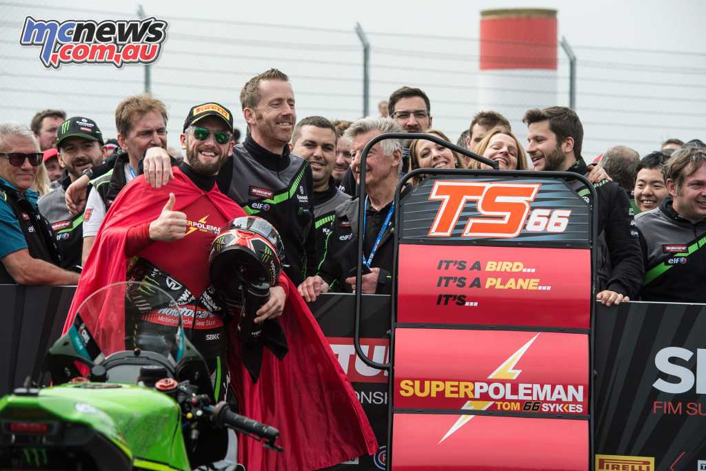 Tom Sykes took a record breaking Superpole