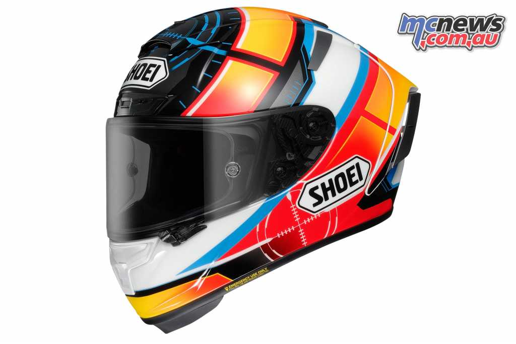 Shoei's X-Spirit III De Angelis ReplicaShoei's X-Spirit III De Angelis Replica
