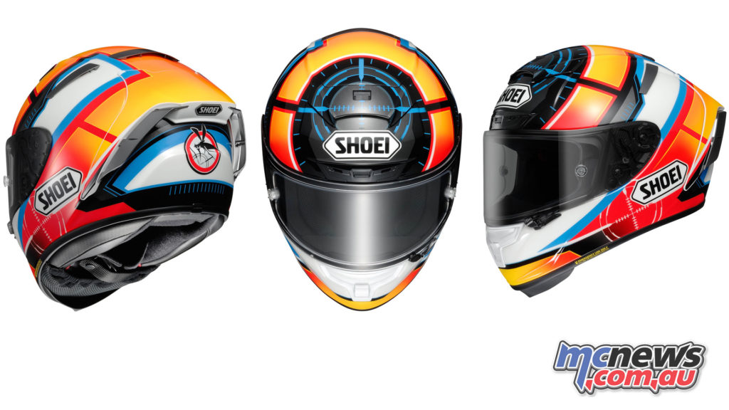 Shoei X-Spirit III now available in De Angelis Replica colours