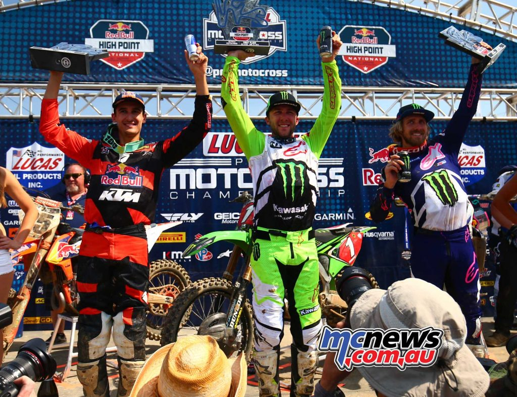 450 OVERALL RESULTS 1. Eli Tomac (2-1) 2. Marvin Musquin (1-2) 3. Justin Barcia (3-5)
