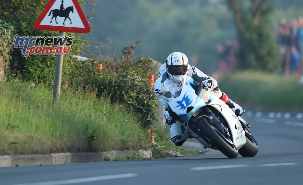 Michael Rutter (Mugen/Team Mugen) at Rhencullen during Thursday's qualifying for the Monster Energy Isle of Man TT