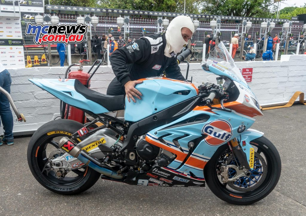 The Gulf BMW squad had to call it a day in the Senior TT after experiencing problems