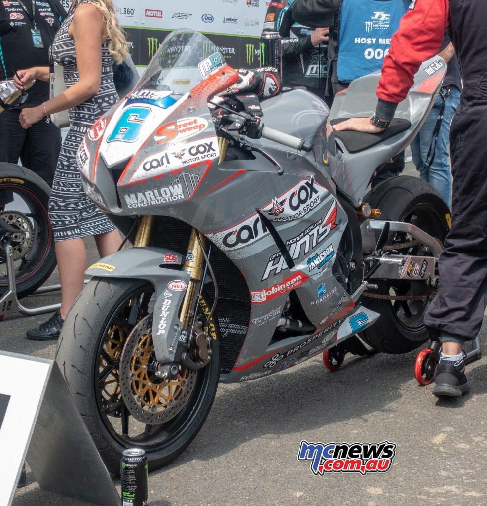 The winning MD Racing Honda CBR600RR