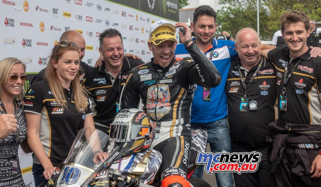 Peter Hickman was pretty happy with P3 in the opening Supersport bout of TT 2018