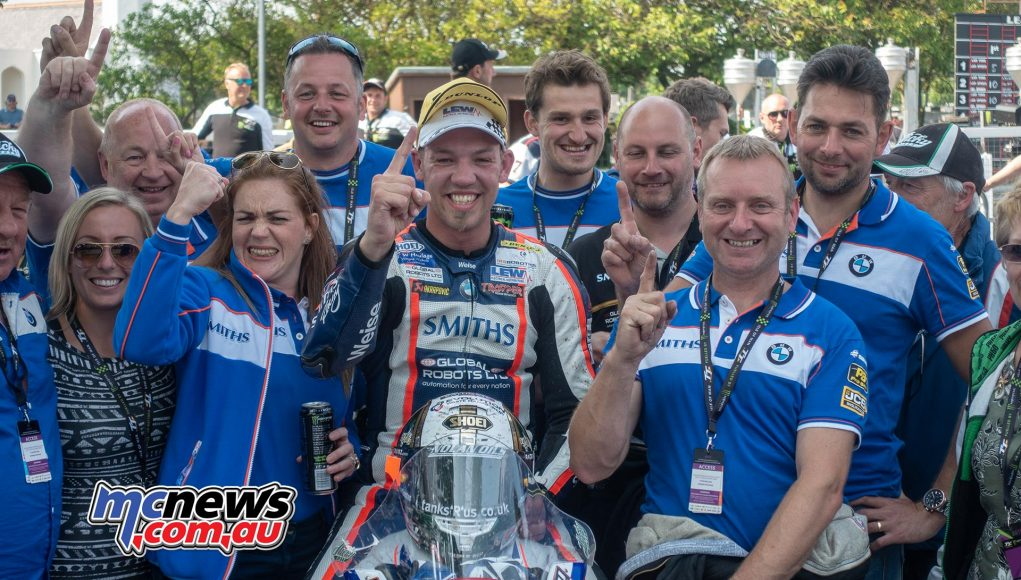 Peter Hickman took Superstock victory and a new TT lap record