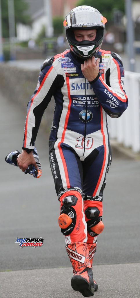 Peter Hickman retired RST Superbike TT Race - Image by Stephen Davison