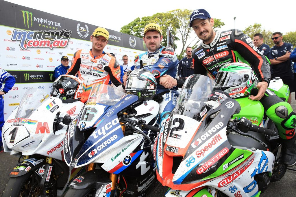 Conor Cummins, Michael Dunlop and James Hillier - Image by Dave Kneen