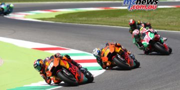 Bradley Smith being pursued - Image by AJRN