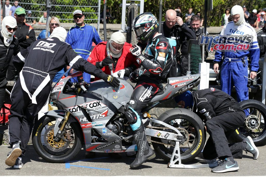 Michael Dunlop in the pits