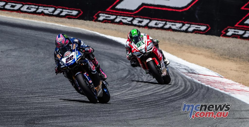 WSBK Laguna Seca R Lowes Laverty
