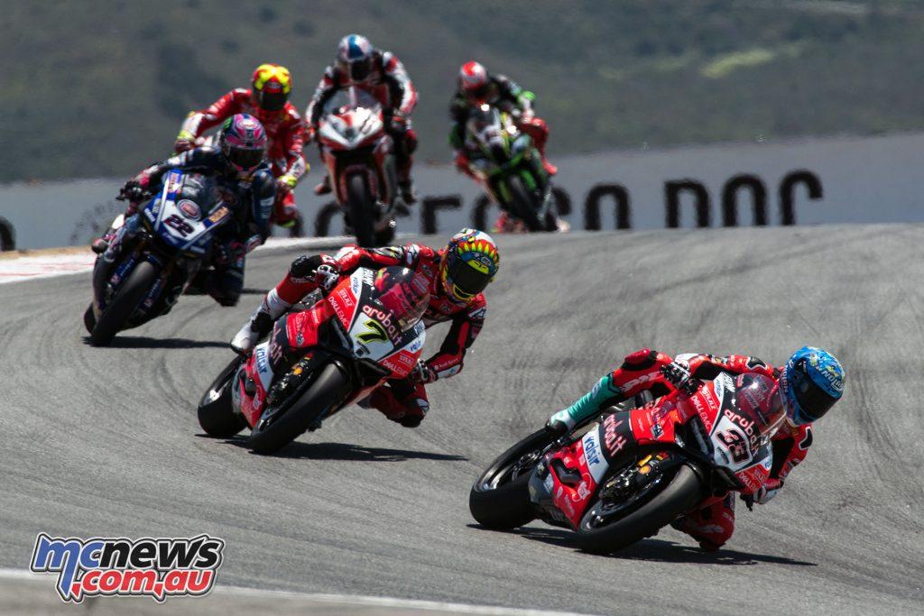WSBK Laguna Seca Race Melandri UC