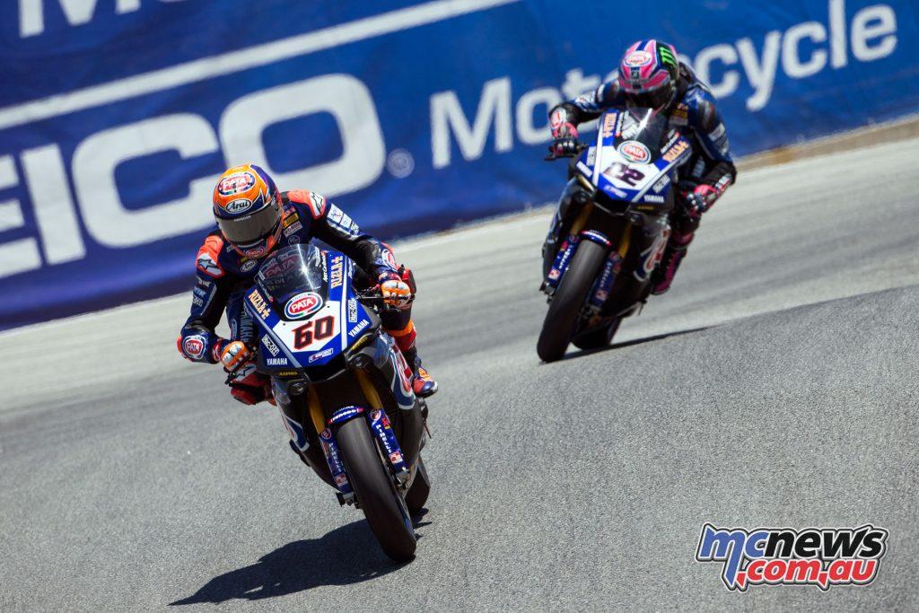 WSBK Laguna Seca Race van der Mark