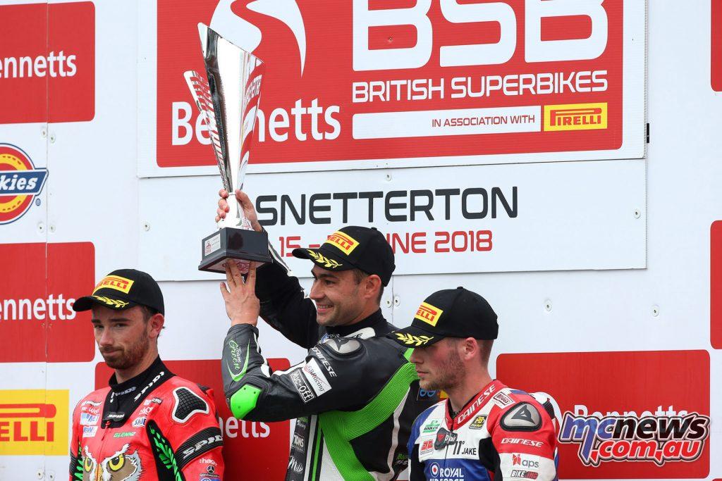 Bennetts British Superbike Championship, Snetterton, Race 1 Podium
