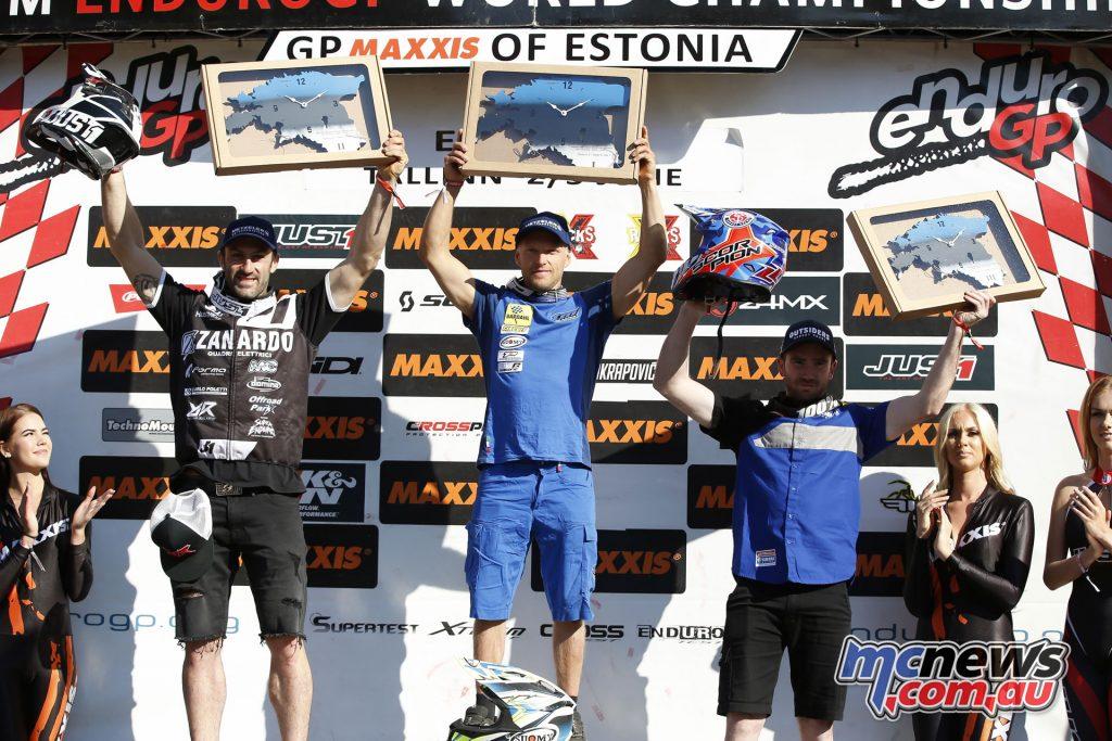 EnduroGP 2018 - Estonia -Enduro2 Day 1 podium