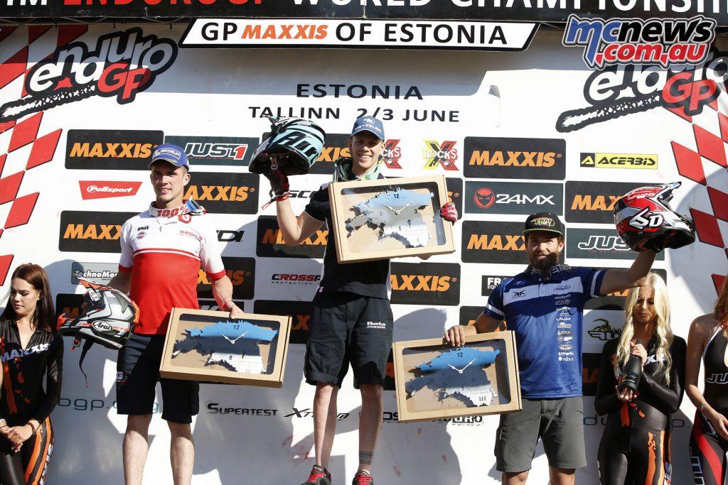 EnduroGP 2018 - Estonia -Enduro3 Day 1 podium