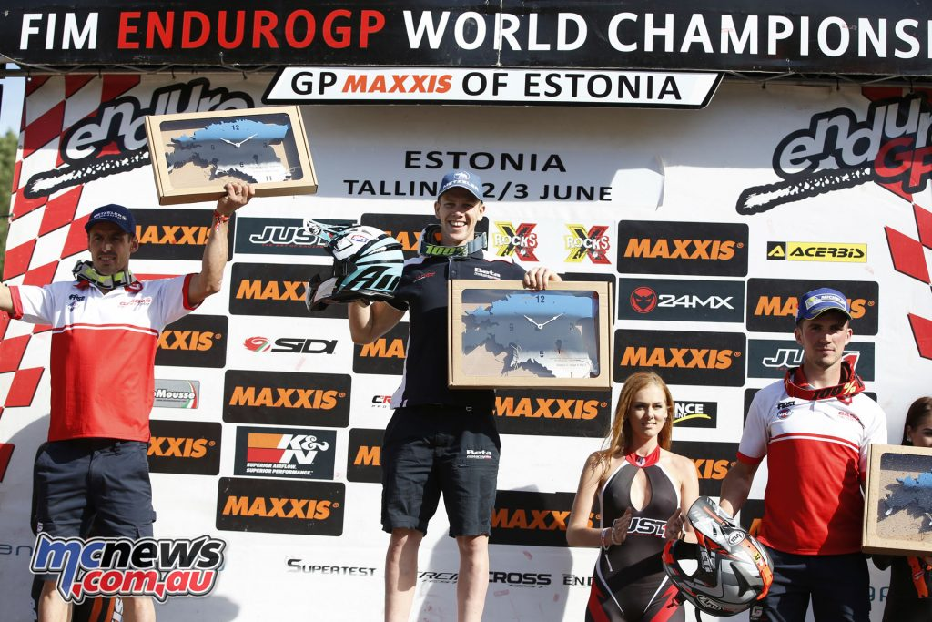EnduroGP 2018 - Estonia -Enduro3 Day 2 podium