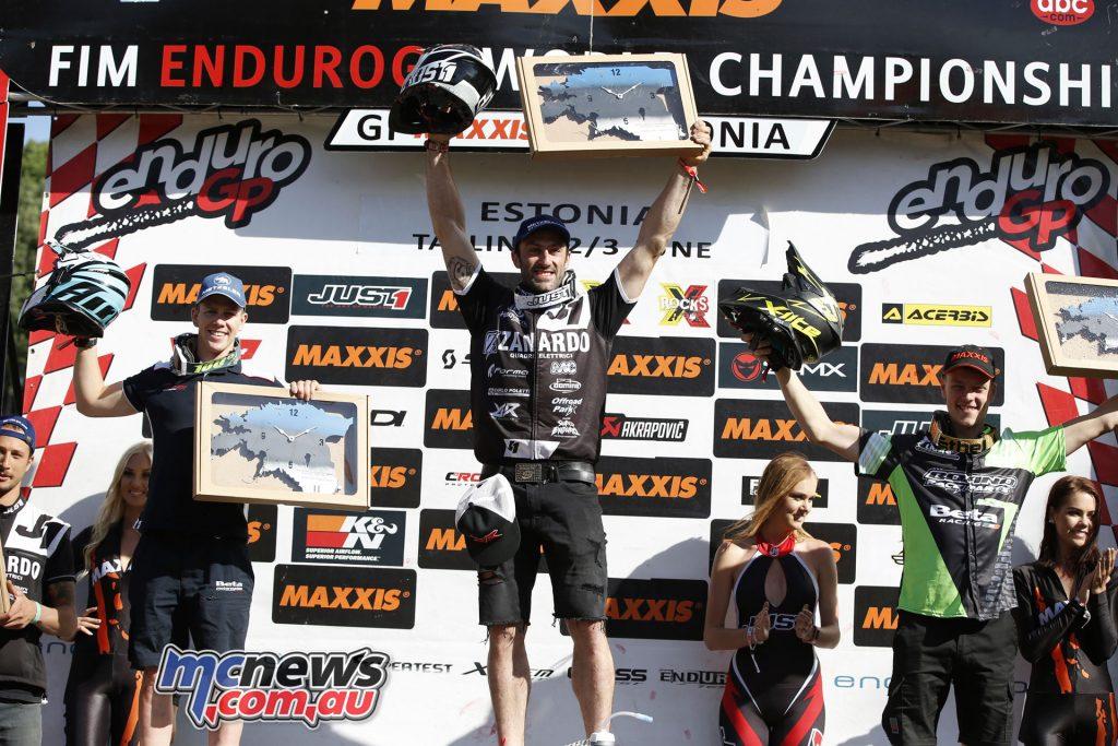 EnduroGP 2018 - Estonia -EnduroGP Day 2 podium