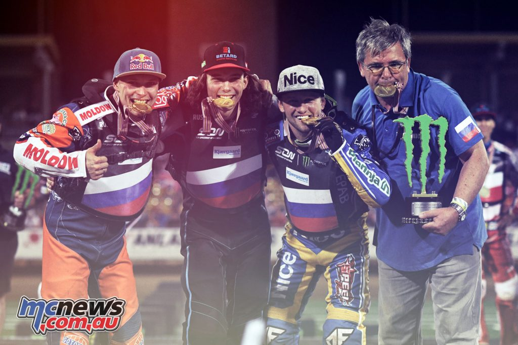 2018 FIM Speedway of Nations - Wroclaw Final podium