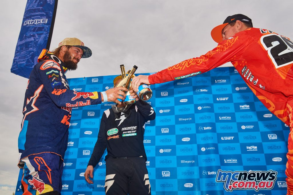 Toby Price led the KTM dominated podium