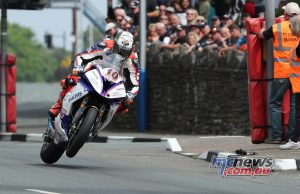 Peter Hickman on his way to victory in the 2018 IOM TT