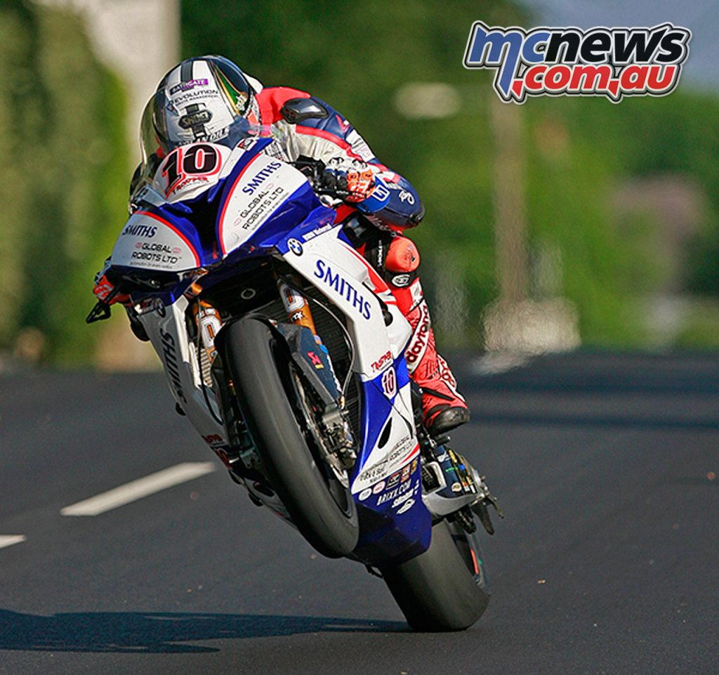 Peter Hickman on his way to victory at the 2018 Isle of Man Senior TT