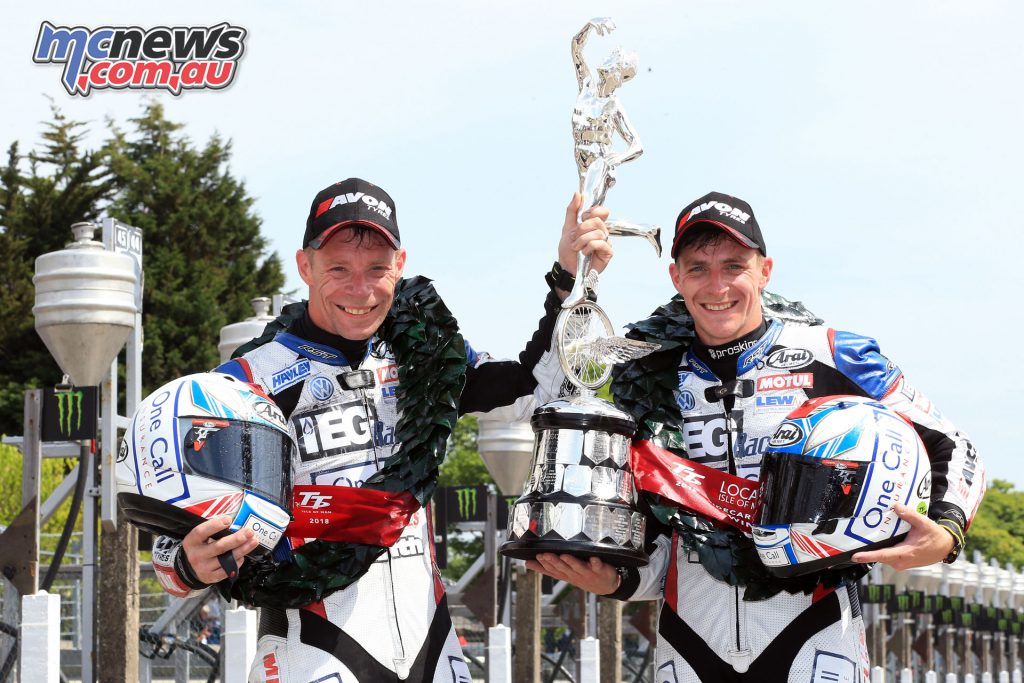 Ben & Tom Birchall took top honours in the Sidecar TT Race 2 - Image by Stephen Davison