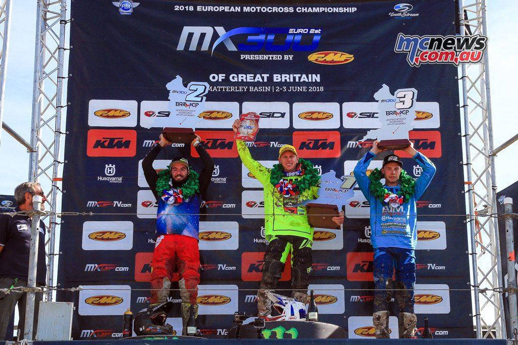 British MXGP 2018 - EMX300 Podium -