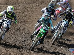 The EMX250 & EMX300 classes competed at the British MXGP