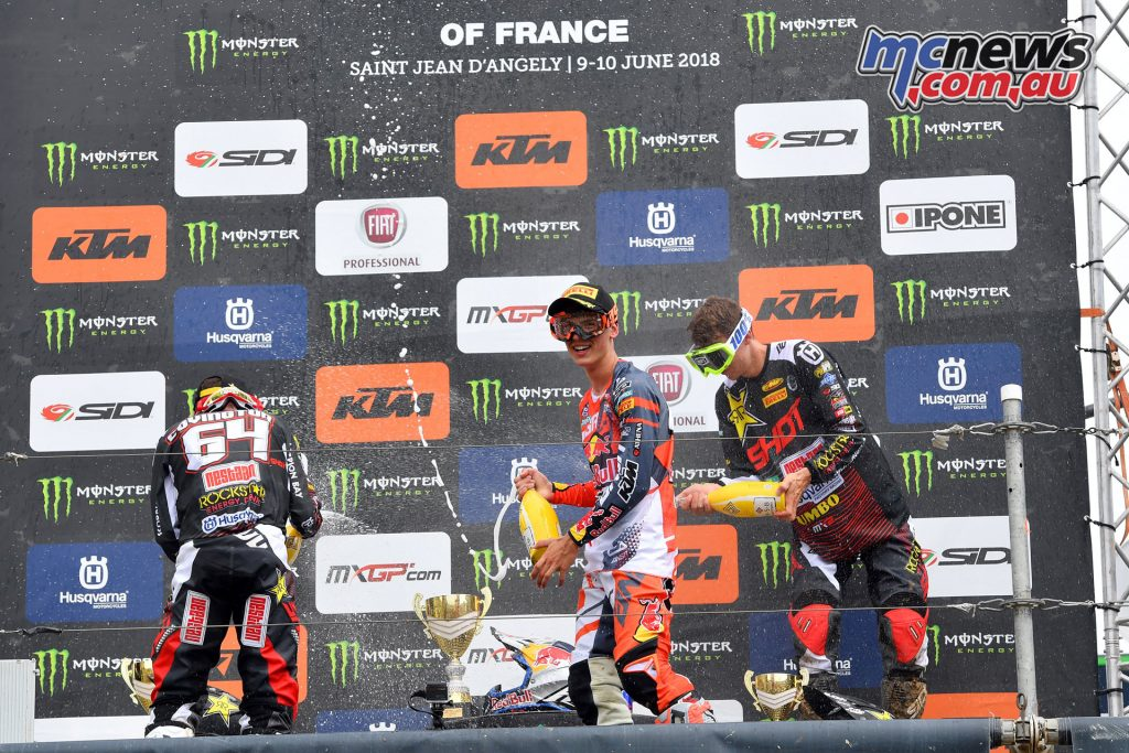 MXGP of France 2018 - MX2 Podium -