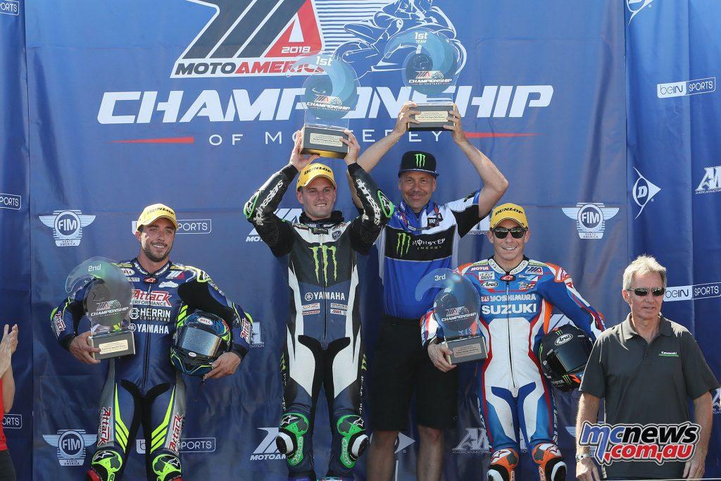 MotoAmerica Rnd Laguna Seca Sat Superbike R Podium BJN