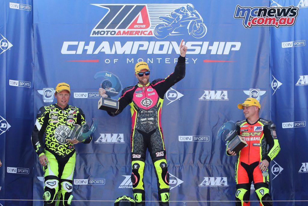 MotoAmerica Rnd Laguna Seca Twins Cup Podium BJN