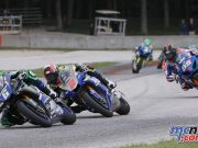 Cameron Beaubier & Josh Herrin leading the Superbikes at Road America