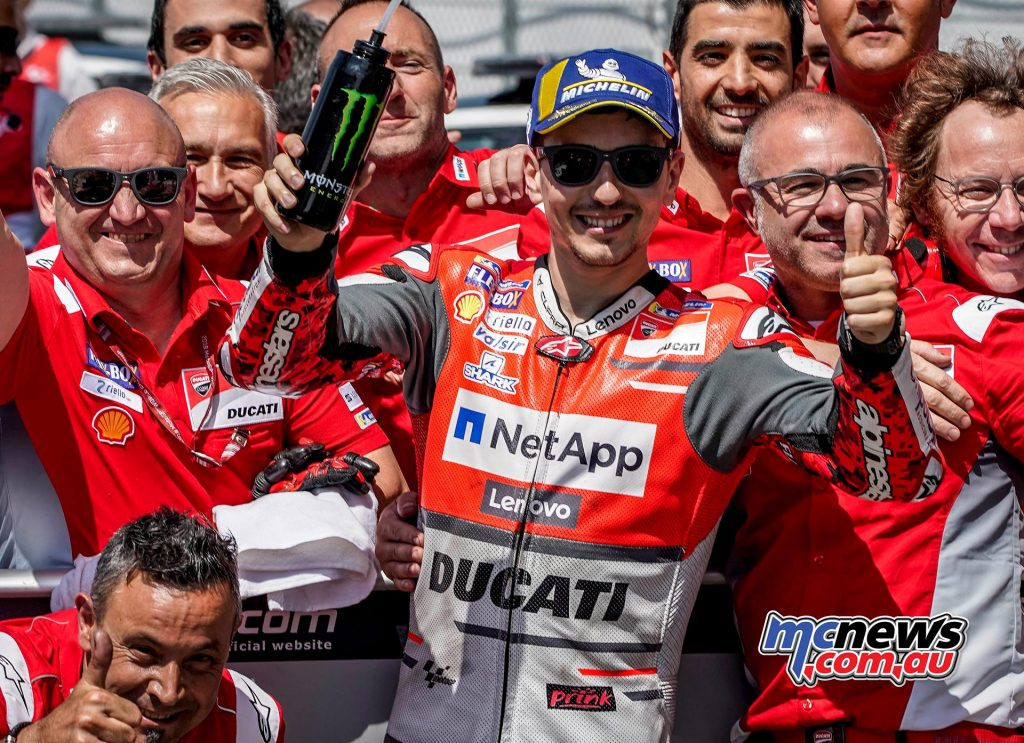 Lorenzo was back on the front row for the first time since Aragon