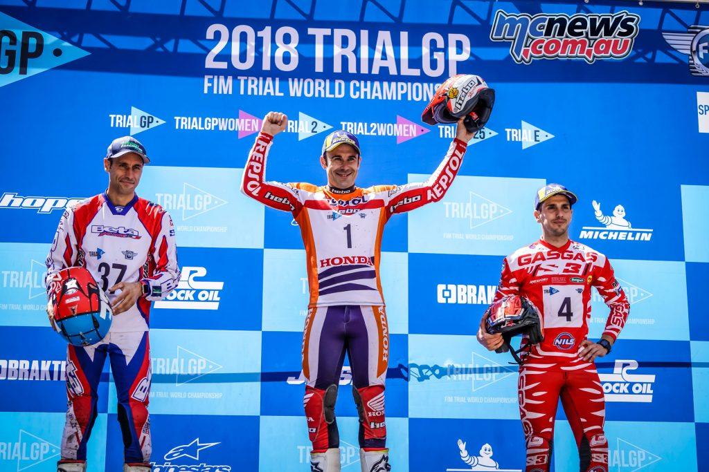 TrialGP of Andorra 2018 - Podium