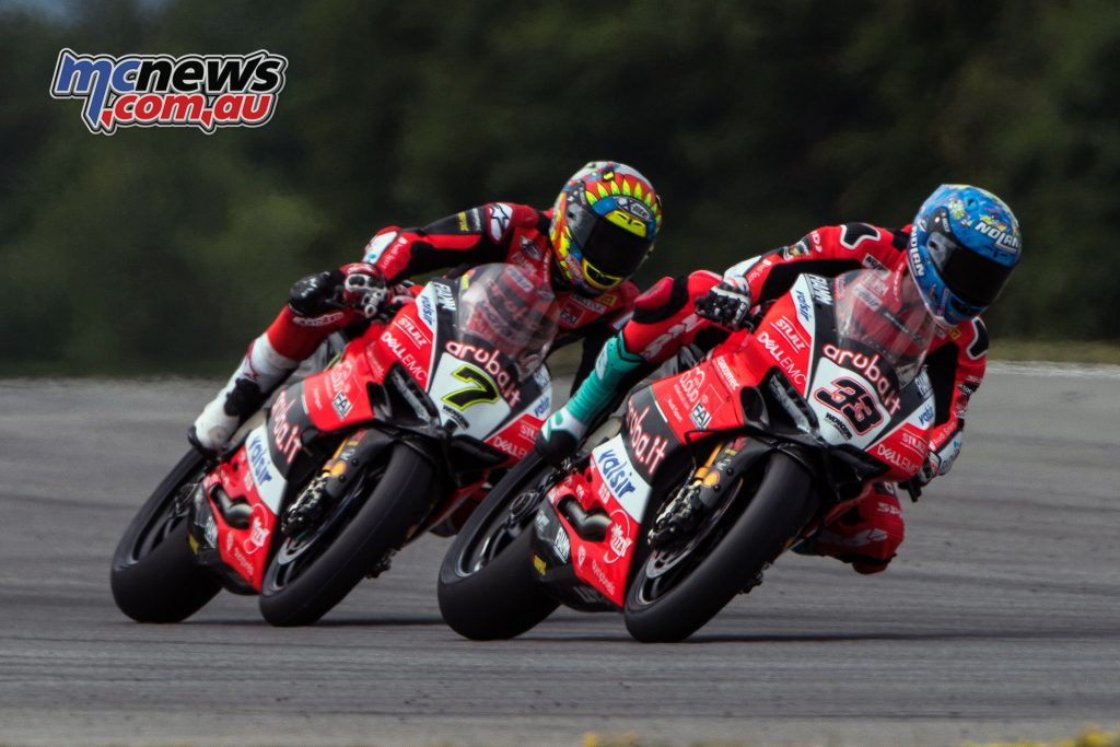WorldSBK 2018 - Round 7 Brno - Race 1 - Chaz Davies & Marco Melandri