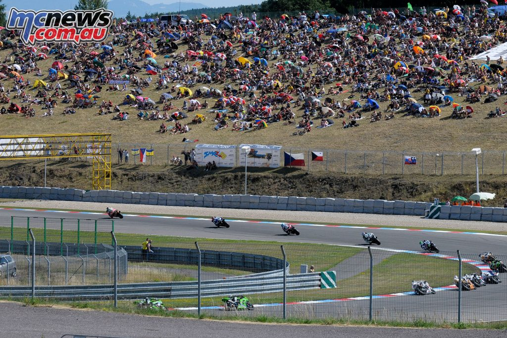 Crowds enjoying the Brno WorldSBK in 2012