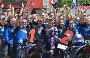 Alex Lowes and Michael van der Mark take the Brno Race 2 Yamaha 1-2