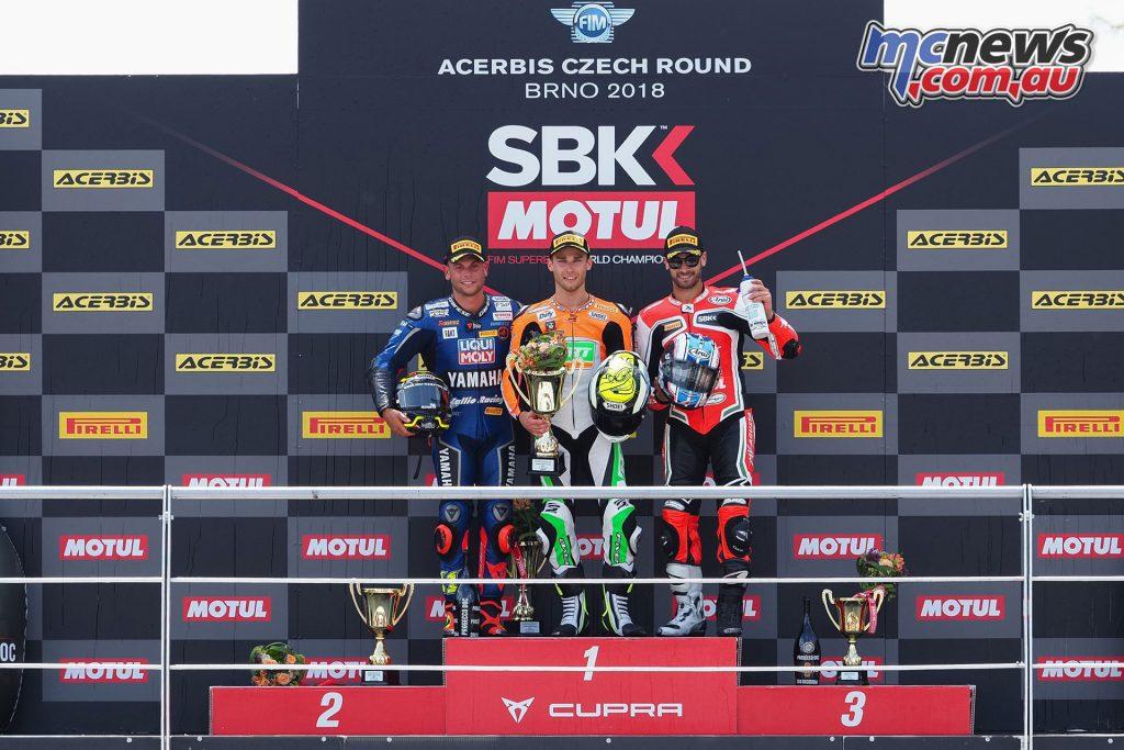WorldSBK 2018 - Round 7 Brno - Supersport Podium