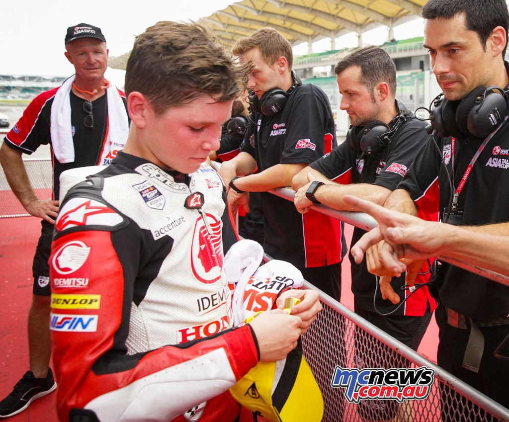 Asia Talent Cup Rnd Sepang R Billy VanEerde ParcFerme