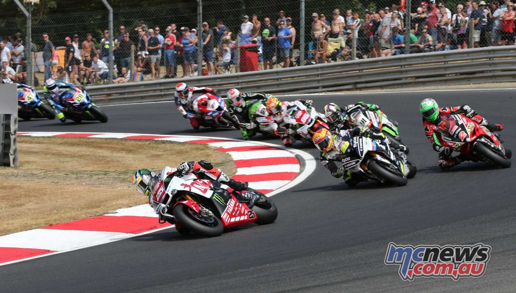 BSB Brands Hatch Josh Brookes leading ImageDYeomans