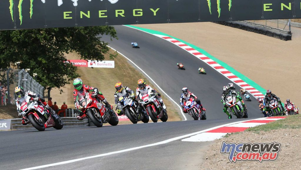 BSB Brands Hatch Josh Brookes leads the pack ImageDYeomans